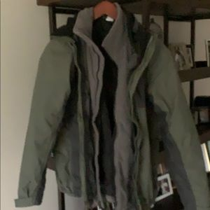 North face men's double layer jacket